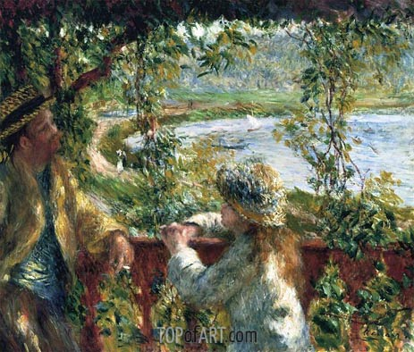Near the Lake, c.1879 | Renoir | Gemälde Reproduktion