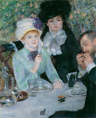The End of the Luncheon, 1879 | Renoir | Gemälde Reproduktion