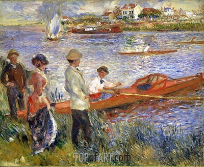 Oarsmen at Chatou, 1879 | Renoir | Gemälde Reproduktion