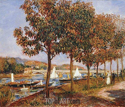 The Bridge at Argenteuil in Autumn, 1882 | Renoir | Painting Reproduction