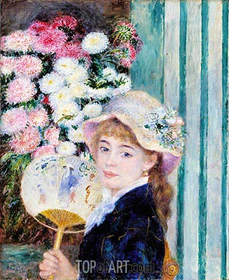 Girl with a Fan, c.1879/80 | Renoir | Gemälde Reproduktion