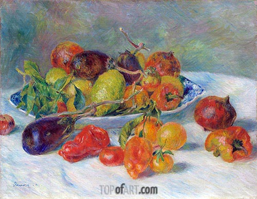 Fruits of the Midi, 1881 | Renoir | Painting Reproduction