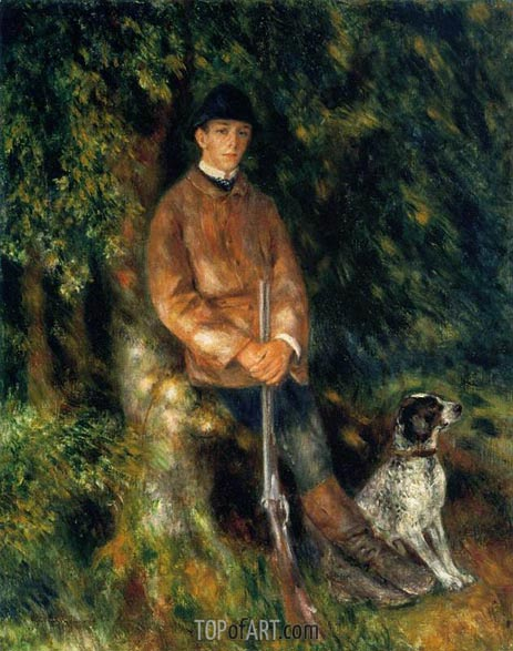 Alfred Berard and His Dog, 1881 | Renoir | Gemälde Reproduktion