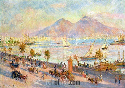 Mount Vesuvius in the Morning, 1881 | Renoir | Gemälde Reproduktion