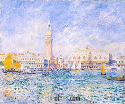 The Doges' Palace, Venice, 1881 | Renoir | Painting Reproduction