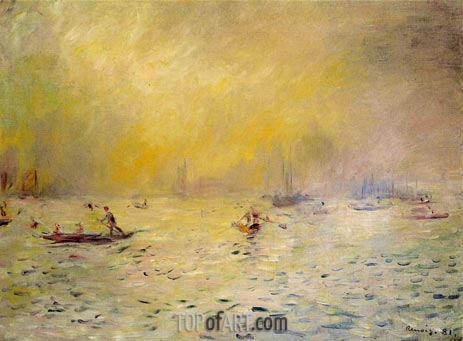 View of Venice, Fog, 1881 | Renoir | Painting Reproduction