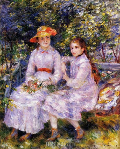 The Daughters of Paul Durand-Ruel, 1882 | Renoir | Painting Reproduction