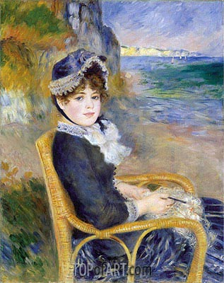 By the Seashore, 1883 | Renoir | Gemälde Reproduktion