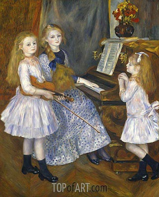 The Daughters of Catulle Mendes, 1888 | Renoir | Painting Reproduction