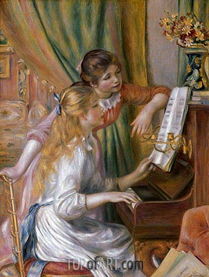 Young Girls at the Piano, 1892 | Renoir | Painting Reproduction