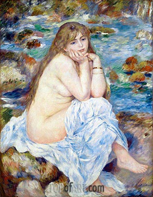 Seated Bather, c.1883/84 | Renoir | Gemälde Reproduktion