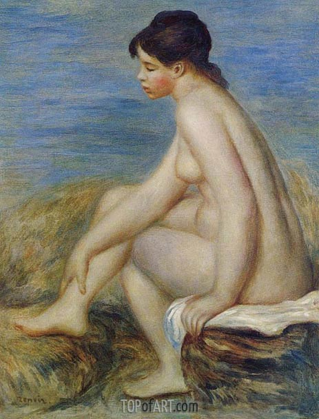 Seated Bather, 1882 | Renoir | Gemälde Reproduktion