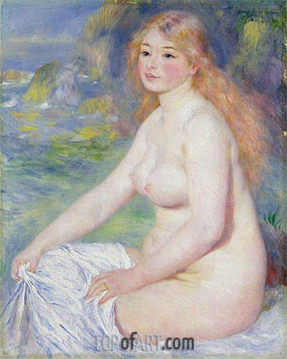 Blonde Bather, 1881 | Renoir | Gemälde Reproduktion