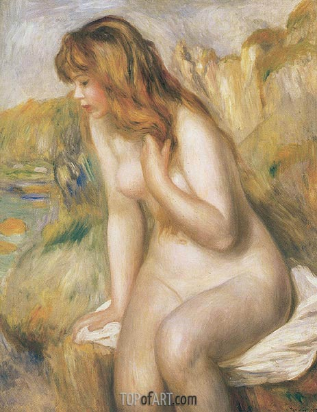 Bather Seated on a Rock, 1892 | Renoir | Painting Reproduction