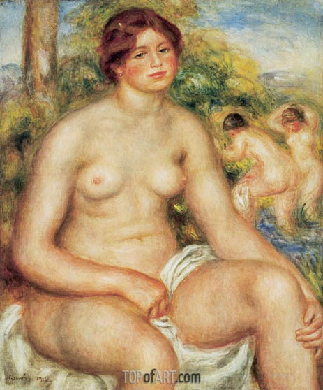 Seated Nude, 1914 | Renoir | Painting Reproduction