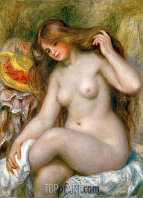 Bather with Loose Blonde Hair, c.1903 | Renoir | Painting Reproduction