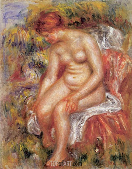 Bather Drying her Leg, 1895 | Renoir | Gemälde Reproduktion