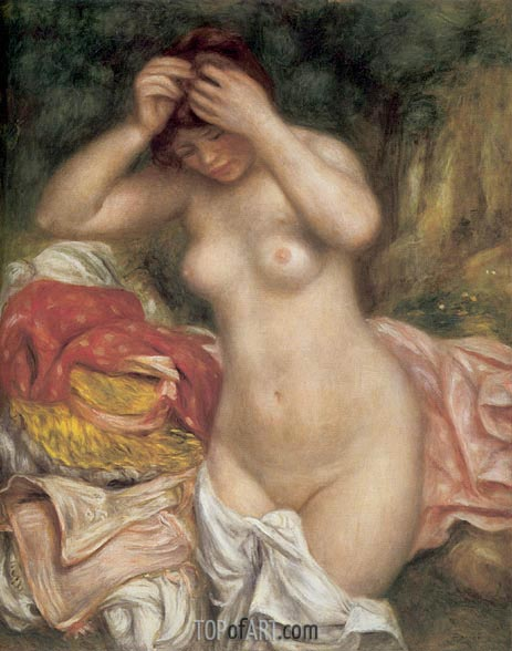 Bather Arranging her Hair, 1893 | Renoir | Gemälde Reproduktion