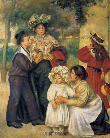 The Artist's Family, 1896 | Renoir | Gemälde Reproduktion