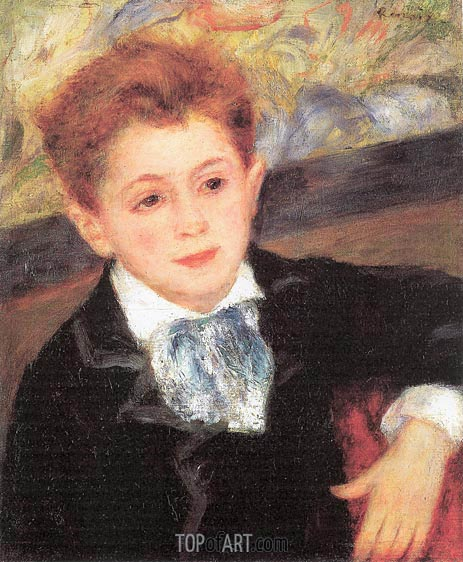 Portrait of Paul Meunier, 1877 | Renoir | Painting Reproduction