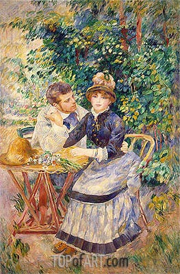 In the Garden, 1885 | Renoir | Painting Reproduction