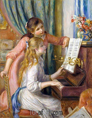 Two Young Girls at the Piano, 1892 | Renoir | Gemälde Reproduktion