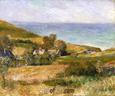 View of the Seacoast near Wargemont in Normandy, 1880 | Renoir | Gemälde Reproduktion