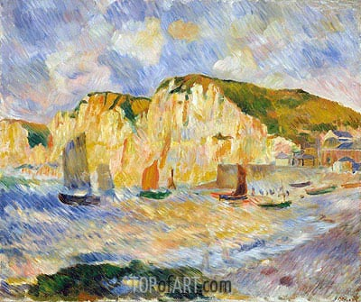 Sea and Cliffs, c.1885 | Renoir | Painting Reproduction