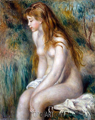 Young Girl Bathing, 1892 | Renoir | Painting Reproduction