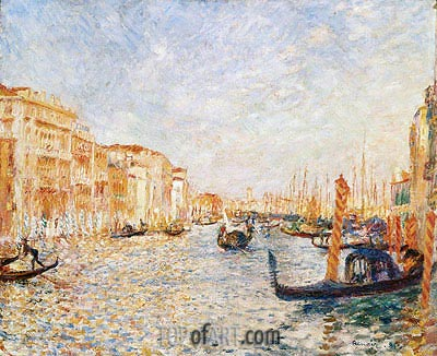 Grand Canal, Venice, 1881 | Renoir | Painting Reproduction
