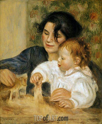 Gabrielle and Jean, c.1900 | Renoir | Painting Reproduction
