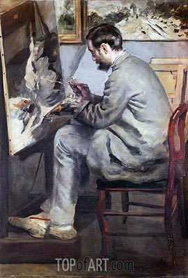 Frederic Bazille, 1867 | Renoir | Painting Reproduction