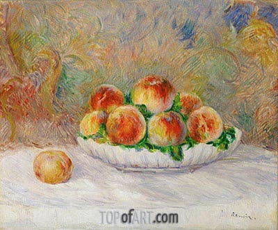 Peaches, undated | Renoir | Painting Reproduction