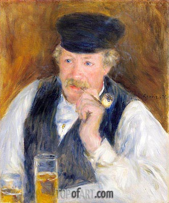 Monsieur Fournaise (Man with a Pipe), 1875   Renoir   Painting Reproduction