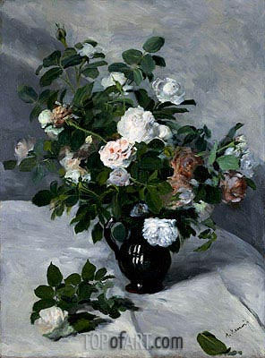 Still Life with Roses, c.1866 | Renoir | Gemälde Reproduktion