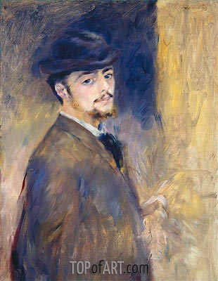 Self-Portrait, 1876 | Renoir | Painting Reproduction