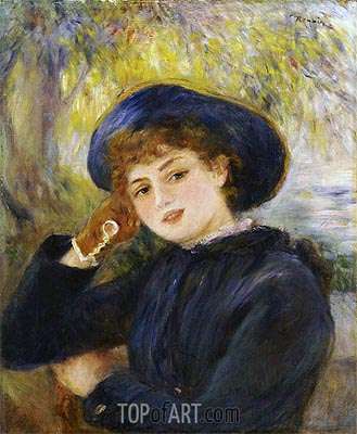 Portrait of Mademoiselle Demarsy, 1882 | Renoir | Painting Reproduction
