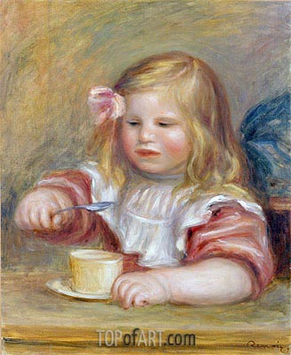 Coco Eating his Soup, undated   Renoir   Painting Reproduction