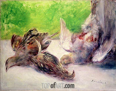Still Life with Pheasants, undated | Renoir | Painting Reproduction