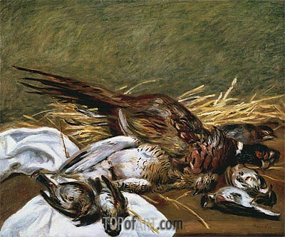 Pheasant, Sparrow and Grouse, 1902   Renoir   Painting Reproduction