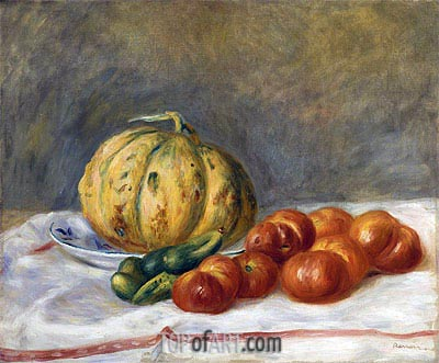 Melon and Tomatoes, 1903 | Renoir | Painting Reproduction