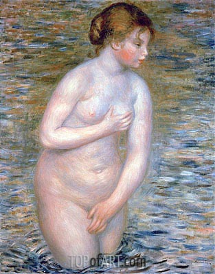 Nude in the Water, 1888 | Renoir | Painting Reproduction
