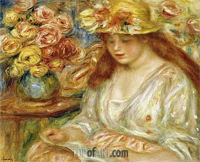 The Reader, undated   Renoir   Painting Reproduction