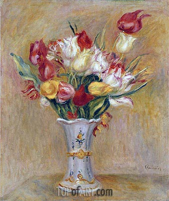 Tulips, undated | Renoir | Painting Reproduction