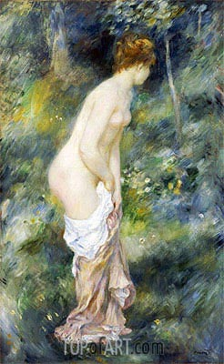 Standing Bather, 1887 | Renoir | Painting Reproduction