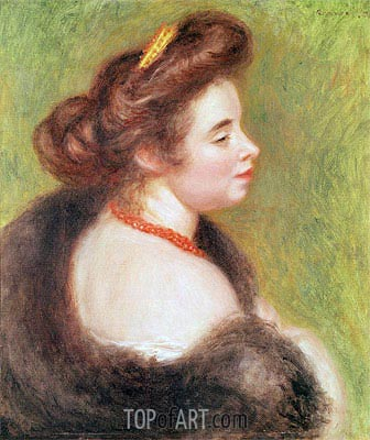 Portrait of Madame Maurice Denis, 1904 | Renoir | Painting Reproduction