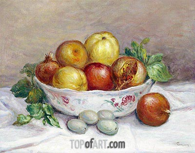 Still Life with a Pomegranate, undated | Renoir | Painting Reproduction