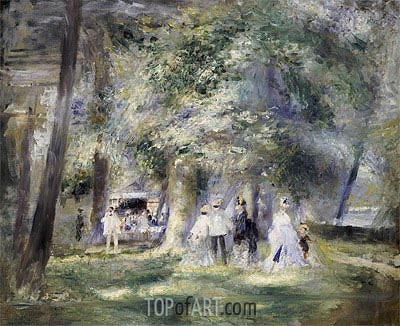 In the Park at Saint-Cloud, 1866 | Renoir | Painting Reproduction