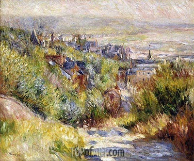 The Heights of Trouville, undated | Renoir | Painting Reproduction