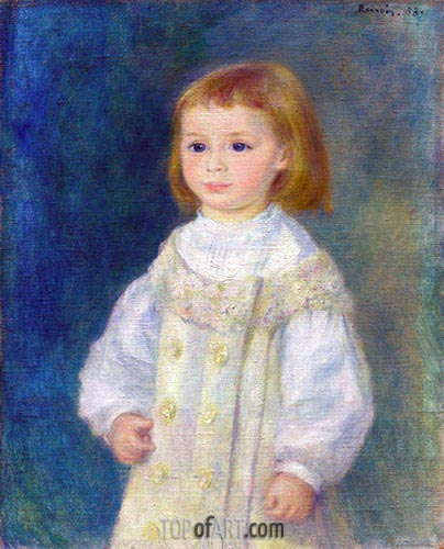 Lucie Berard (Child in White), 1883 | Renoir | Painting Reproduction